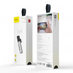 Baseus Lighting + 3.5mm Audio adapteris, sidabrinis