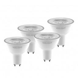 Yeelight GU10 Smart Bulb W1 4-Pack 4.8W, 350lm, 2700K,...