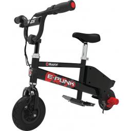 Razor E Punk Electric Bicycle Black - vaikiškas...