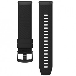 Coros APEX 42mm Silicone Watch Band, 22mm, Black -...