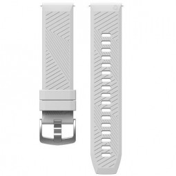 Coros APEX 42mm Silicone Watch Band, 22mm, White -...
