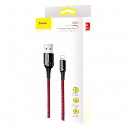 Baseus Lightning C-Shaped 2.4A 1m kabelis su indikacija,...