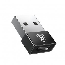 Baseus Exquisite USB-A Male to USB-C Female 2.4A Adapter...