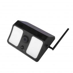 Lauko IP kamera/šviestuvas, belaidė, atspari drėgmei, juoda