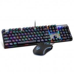 Motospeed CK888 Mechanical Gaming Keyboard, RGB LED, USB,...