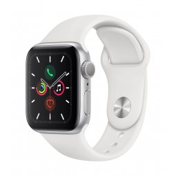Apple Watch Series 5 GPS, 40mm Silver Aluminium Case with...