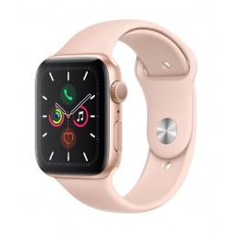 Apple Watch Series 5 GPS, 44mm Gold Aluminium Case with...
