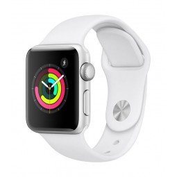 Apple Watch Series 3 GPS, 38mm Silver Aluminium Case with...