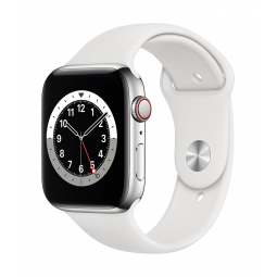 Apple Watch Series 6 GPS + Cellular, 44mm Silver...