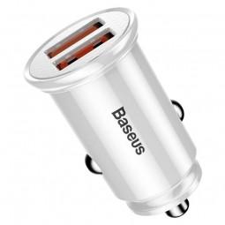 Baseus Circular 2x USB QC 3.0 5A 30W automobilinis...