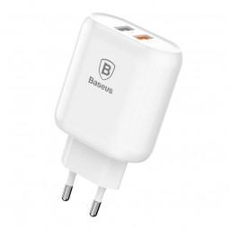 Baseus Bojure Series 2x USB 3A 23W buitinis įkroviklis,...