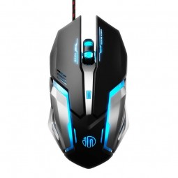 Inphic PB6S Wired Gaming Mouse, 4800 DPI, 6 Keys, RGB,...