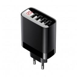 Baseus Mirror Lake 4x USB 6A 30W buitinis įkroviklis, juodas