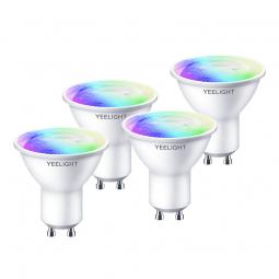 Yeelight GU10 Smart Bulb W1 Color 4-Pack 4.5W, 350lm,...