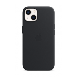 Apple iPhone 13 Leather Case with MagSafe - Midnight (Black)