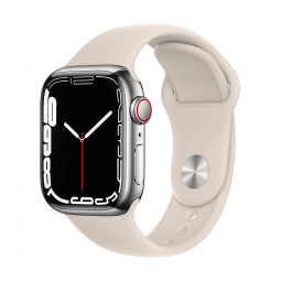 Apple Watch Series 7 GPS + Cellular, 41mm Silver...
