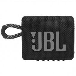 JBL GO 3 Black Bluetooth Speaker - belaidė kolonėlė, juoda