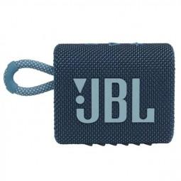 JBL GO 3 Blue Bluetooth Speaker - belaidė kolonėlė, mėlyna