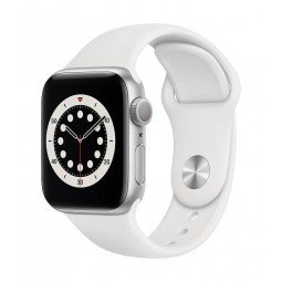 Apple Watch Series 6 GPS, 40mm Silver Aluminium Case with...