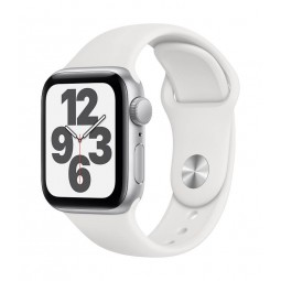 Apple Watch SE GPS, 40mm Silver Aluminium Case with White...