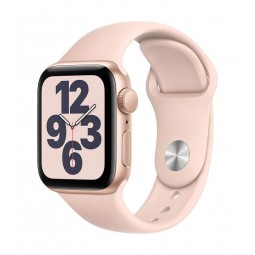 Apple Watch SE GPS, 40mm Gold Aluminium Case with Pink...