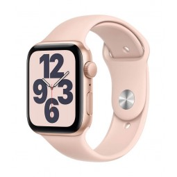 Apple Watch SE GPS, 44mm Gold Aluminium Case with Pink...