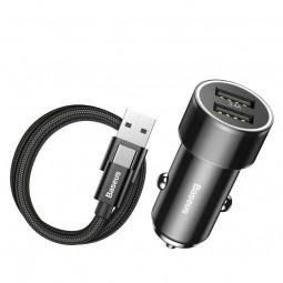 Baseus Small Screw 2xUSB 3.4A + USB-C automobilinis...