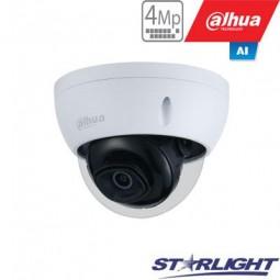 Dahua 4MP IP kamera kupolinė, Starlight, AI, IR iki 50m,...