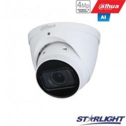 Dahua 4MP IP kamera kupolinė, Starlight, AI, IR iki 40m,...