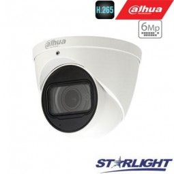 Dahua 6MP IP kamera kupolinė, Starlight, 20fps, IR iki...