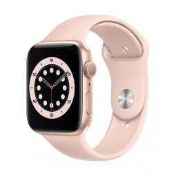 Apple Watch Series 6 GPS, 44mm Gold Aluminium Case with...