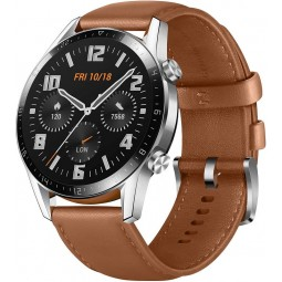 Huawei Watch GT 2 Classic 46mm Silver / Brown išmanusis...