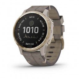 Garmin fenix 6S Pro Solar 42mm Light Gold / Shale, Suede,...