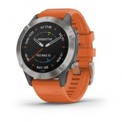 Garmin fenix 6 Sapphire 47mm, Titanium Gray / Orange,...