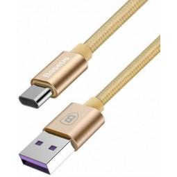 Baseus Huawei Type-C QC 5A 1m kabelis, aukso