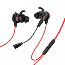 Baseus GAMO H15 laidinės žaidimų ausinės, raudona / juoda