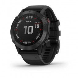 Garmin fenix 6 Pro 47mm Black / Black, Silicone, GPS...