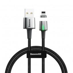Baseus Zinc Magnetic Lightning 1.5A 2m kabelis, juodas /...
