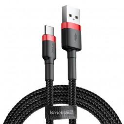 Baseus Type-C Cafule 2A 2m kabelis, juoda / raudona